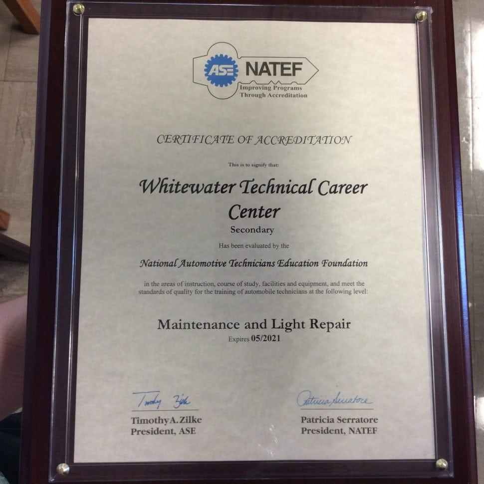 Asenatef certification whitewater career center automotive technology asenatef certification xflitez Choice Image